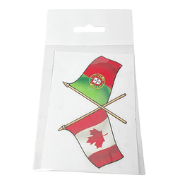 Autocolante com bandeiras