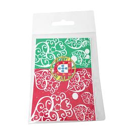 Adesivo com bandeira de Portugal