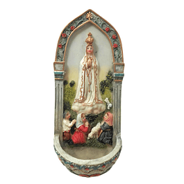 Sink for Holy Water with Apparition of Fatima