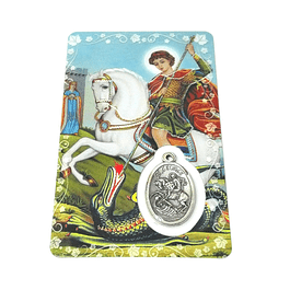 Prayer card of Saint George