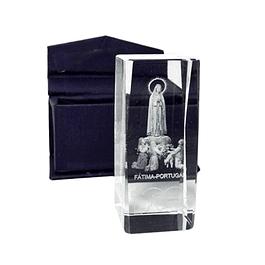 Cristal com imagem de 100 anos de Fátima