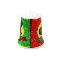 Thimble with colors of Portugal