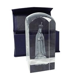 Cristal de vidro com Nossa Senhora e Fátima