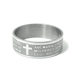 Ring with Prayer of Ave Maria