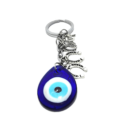 Turkish horseshoe and eye keychain