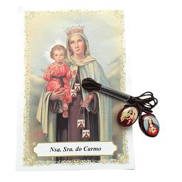Escapulário oval de Nossa Senhora do Carmo