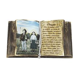 Decorative book with Saint Jacinta and San Francisco