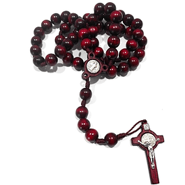 Olive Wood Rosary of Saint Benedict