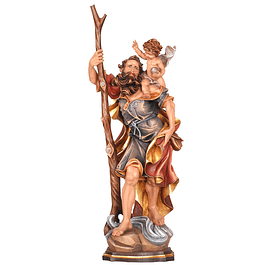 Wood statue of Saint Christopher