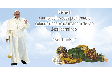 History of Pope Francis with St Joseph Sleeping