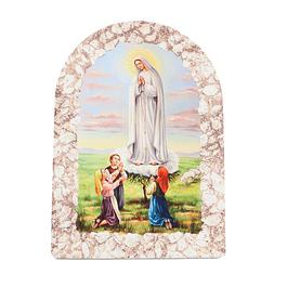 Placa decorativa de Aparição de Fátima