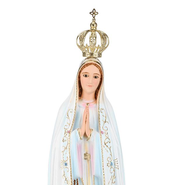 Imagem Nossa Senhora De Fátima c/ olhos de vidro