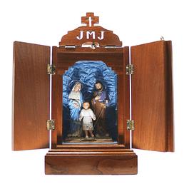 Oratório de madeira 37 cm