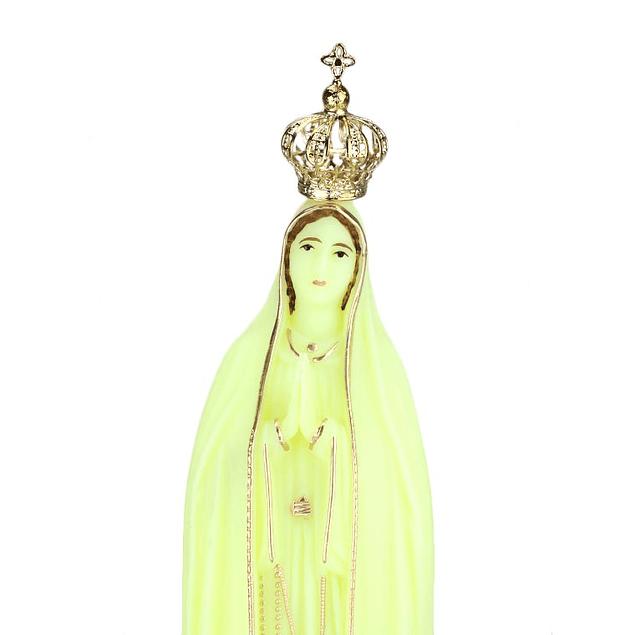 Imagem fluorescente de Nossa Senhora de Fátima