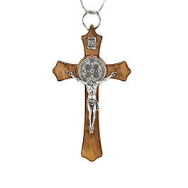 Crucifix of Saint Benedict in wood
