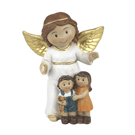 Statue of Guardian Angel with children