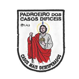 Emblema bordado de São Judas Tadeu