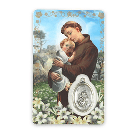 Prayer card of Saint Anthony