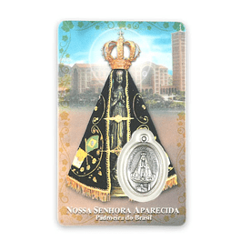 Prayer card of Our Lady Aparecida