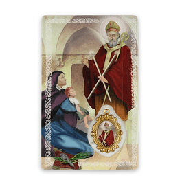 Prayer card of Saint Blaise
