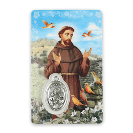 Prayer card of Saint Francis of Assisi