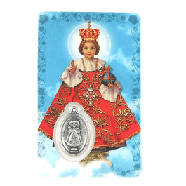 Prayer card of Baby Jesus of Prague