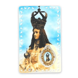 Prayer card of Our Lady of Almortao