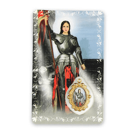 Prayer card of Saint Joanne D Arc