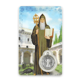 Saint Benedict prayer card