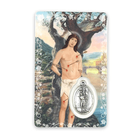 Prayer card of Saint Sebastian