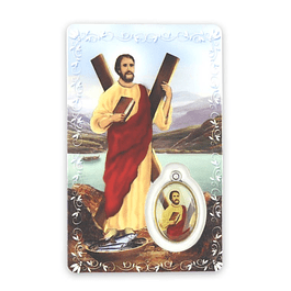 Prayer card of Saint Andrew
