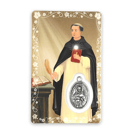 Saint Thomas Aquinas prayer card