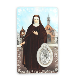 Prayer card of Saint Clare