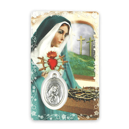 Prayer card of Our Lady of Sorrows
