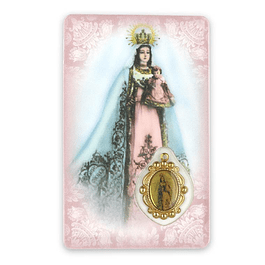 Prayer card of Our Lady of Health