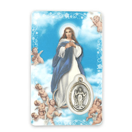 Prayer card of the Immaculate Conception