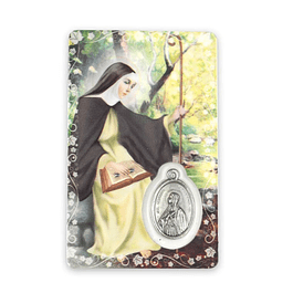 Prayer card of Saint Monica