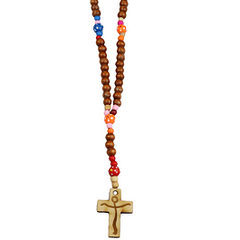 Wood colored rosary