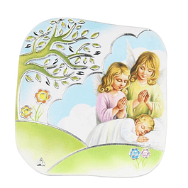 Placa com Anjinhos e bebé