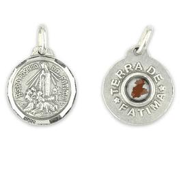 Medalha com terra de Fátima - Prata 925