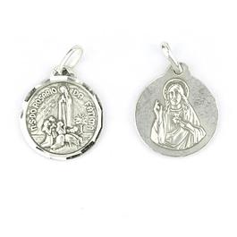 Medalha de Sagrado Coração de Jesus - Prata 925