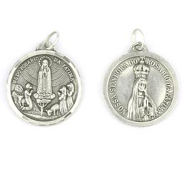 Medalha de Nossa Senhora do Rosário de Fátima - Prata 925