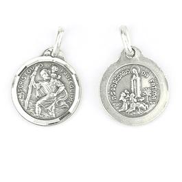 Medalha de São Cristóvão - Prata 925