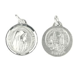 Medalha Aparição e Face de Nossa Senhora - Prata 925