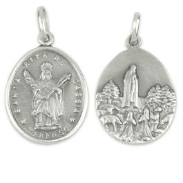 Medalha de Santa Rita de Cássia - Prata 925