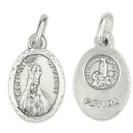 Medalha Oval de Fátima - Prata 925