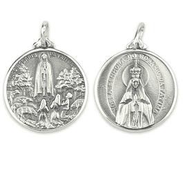 Medalha Fátima Coroada - Prata 925