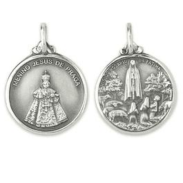 Medalha de Menino Jesus de Praga - Prata 925
