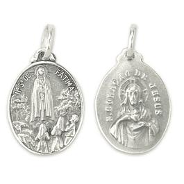 Medalha oval Sagrado Coração de Jesus - Prata 925