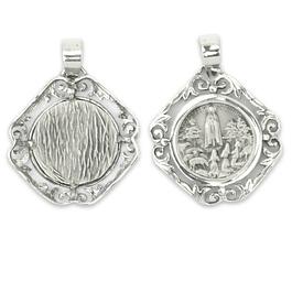 Medalha Aparição de Fátima Rendilhada - Prata 925